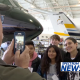 Photo of Kids in front of Aiplane in Hangar at Western Jet Aviation